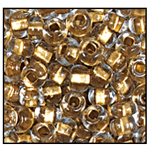 Seed Bead #2100 6/0 68106 Crystal Transparent Gold Lined (1/2 Kilo)