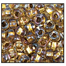 Seed Bead #2100 11/0 68506 Crystal Transparent Gold Lined Iris (1/2 Kilo)