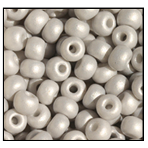Seed Bead #2100 11/0 16541 Ice Opaque Matt Pearl (1/2 Kilo) - CLEARANCE