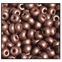 Seed Bead #2100 6/0 28996 Chocolate Opaque Matt Pearl (1/2 Kilo) - CLEARANCE