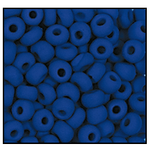 Seed Bead #2100 11/0 33050M Medium Blue Opaque Matt (1/2 Kilo) - CLEARANCE