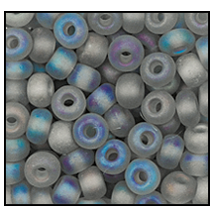 Seed Bead #2100 11/0 41010M Smoke Grey Transparent Matt Iris (1/2 Kilo) - CLEARANCE