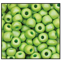 Seed Bead #2100 11/0 54310M Avocado Opaque Matt Iris (1/2 Kilo) - CLEARANCE
