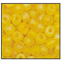 Seed Bead #2100 6/0 83130M Dark Yellow Opaque Matt (1/2 Kilo) - CLEARANCE