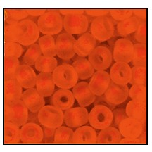 Seed Bead #2100 6/0 90030M Dark Orange Transparent Matt (1/2 Kilo) - CLEARANCE
