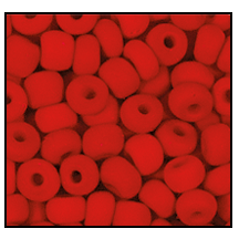 Seed Bead #2100 11/0 93190M Red Opaque Matt (1/2 Kilo) - CLEARANCE