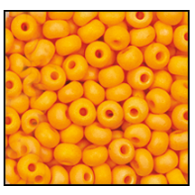 Seed Bead #2100 11/0 94110M Light Orange Opaque Matt Iris (1/2 Kilo) - CLEARANCE