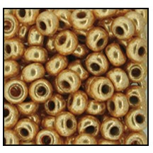 Seed Bead #2100 10/0 18304 Light Gold Metallic (1/2 Kilo)