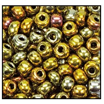 Seed Bead #2100 10/0 59148 Gold Iris Metallic (1/2 Kilo) - CLEARANCE