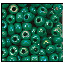 Seed Bead #2100 11/0 54250 Green Opaque Iris (1/2 Kilo) - CLEARANCE