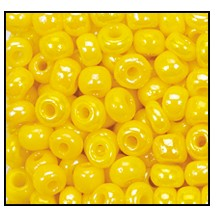 Seed Bead #2100 11/0 84130 Dark Yellow Opaque Iris (1/2 Kilo)