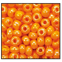 Seed Bead #2100 11/0 94110 Light Orange Opaque Iris (1/2 Kilo)