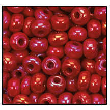 Seed Bead #2100 6/0 94210 Dark Red Opaque Iris (1/2 Kilo)