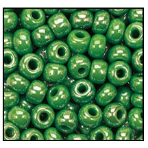 Seed Bead #2100 6/0 58230 Green Opaque Luster (1/2 Kilo)