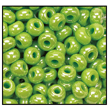 Seed Bead #2100 11/0 58410 Lime Opaque Luster (1/2 Kilo)