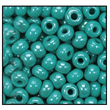 Seed Bead #2100 11/0 68130 Green Turquoise Opaque Luster (1/2 Kilo)
