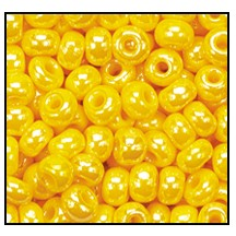 Seed Bead #2100 11/0 88130 Dark Yellow Opaque Luster (1/2 Kilo)