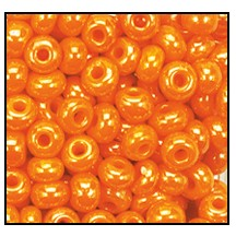 Seed Bead #2100 6/0 98110 Light Orange Opaque Luster (1/2 Kilo) - CLEARANCE