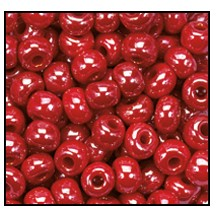 Seed Bead #2100 6/0 98190 Red Opaque Luster (1/2 Kilo) - CLEARANCE