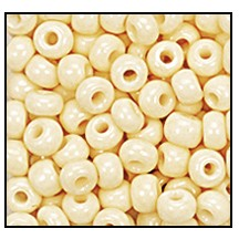 Seed Bead #2100 11/0 06013 Bone Opaque (1/2 Kilo)
