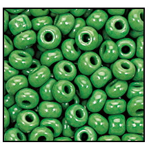 Seed Bead #2100 11/0 53250 Green Opaque (1/2 Kilo)