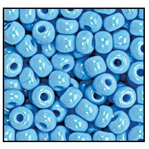 Seed Bead #2100 13/0 63020 Turquoise Opaque (1/2 Kilo) (LOOSE) - CLEARANCE
