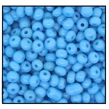 Seed Bead #2100 12/0 63030 Medium Turquoise Opaque (1/2 Kilo) (LOOSE) - CLEARANCE