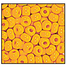 Seed Bead #2100 9/0 93110 Light Orange Opaque (1/2 Kilo) - CLEARANCE