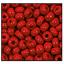 Seed Bead #2100 6/0 93210 Dark Red Opaque (1/2 Kilo)