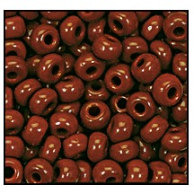 Seed Bead #2100 4/0 93300 Rust Opaque (1/2 Kilo) - CLEARANCE