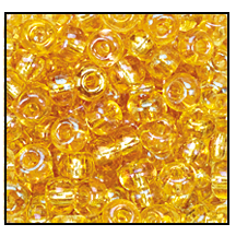 Seed Bead #2100 8/0 11020 Light Topaz Transparent Iris (1/2 Kilo) - CLEARANCE