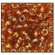 Seed Bead #2100 11/0 11070 Medium Topaz Transparent Iris (1/2 Kilo) - CLEARANCE