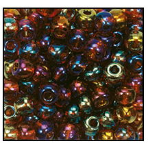 Seed Bead #2100 8/0 11140 Smoke Topaz Transparent Iris (1/2 Kilo) - CLEARANCE