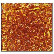 Seed Bead #2100 14/0 10050 Topaz Transparent (1/2 Kilo) - CLEARANCE