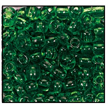 Seed Bead #2100 14/0 50060 Forest Green Transparent (1/2 Kilo) - CLEARANCE