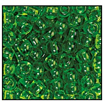 Seed Bead #2100 8/0 50430 Green Transparent (1/2 Kilo) - CLEARANCE
