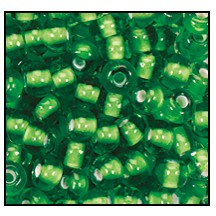Seed Bead #2100 6/0 55106 Light Green Transparent White Lined (1/2 Kilo) - CLEARANCE