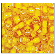 Seed Bead #2100 11/0 85016 Yellow Transparent White Lined (1/2 Kilo)