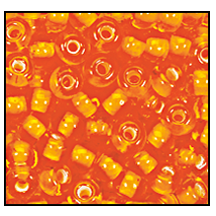 Seed Bead #2100 11/0 95006 Orange Transparent White Lined (1/2 Kilo)