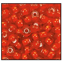 Seed Bead #2100 11/0 95056 Light Red Transparent White Lined (1/2 Kilo)