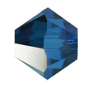 Swarovski 5328 Bicone Bead 4mm Capri Blue Satin