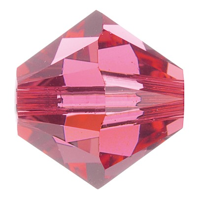 Swarovski 5328 Bicone Bead 5mm Indian Pink