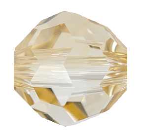 Swarovski 5900 Round (Large Hole) Bead 14mm Crystal Golden Shadow (12 Pieces) - CLEARANCE