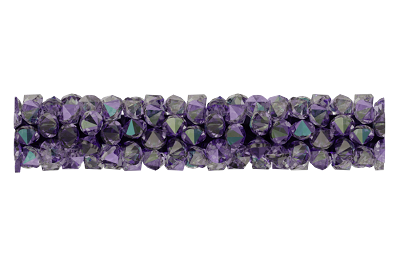 Swarovski 5951 Fine Rocks Tube Bead (Without Ending) 30mm Light Amethyst Paradise Shine
