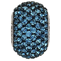Swarovski 80101 BeCharmed Pave Round Bead 14mm Montana (2 Pieces)