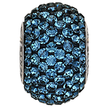 Swarovski 80101 BeCharmed Pave Round Bead 14mm Montana (12 Pieces)