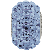 Swarovski 80201 BeCharmed Pave Fancy Square Bead 15mm Light Sapphire (12 Pieces)