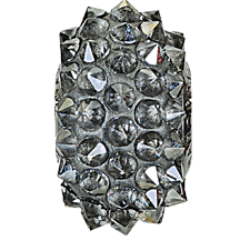 Swarovski 80401 BeCharmed Pave Spike Bead 16mm Crystal Silver Shade (12 Pieces)