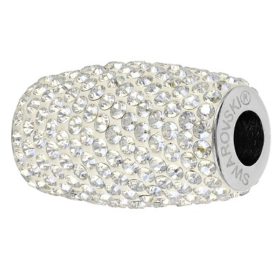 Swarovski 80921 BeCharmed Pave Column Bead 13mm Crystal Moonlight (8 Pieces)