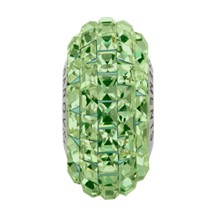 Swarovski 81201 BeCharmed Pave Slim Bead (Fancy Square) 13mm Peridot (12 Pieces)